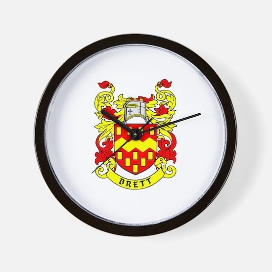 BRETT Coat of Arms Wall Clock