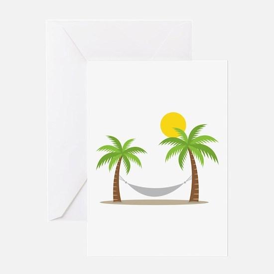 Hammock & Palms Greeting Cards