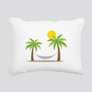 Hammock & Palms Rectangular Canvas Pillow
