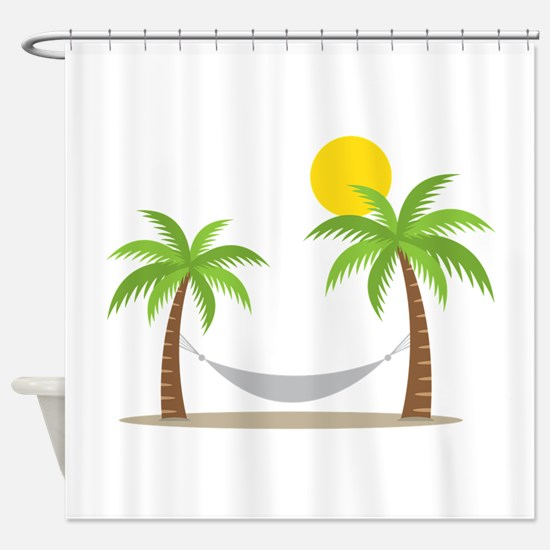 Hammock & Palms Shower Curtain