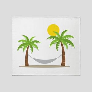 Hammock & Palms Throw Blanket