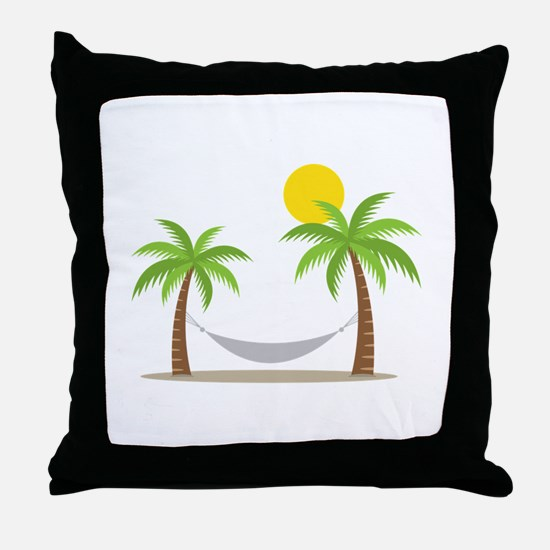Hammock & Palms Throw Pillow