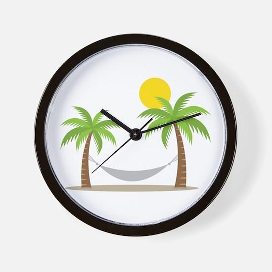 Hammock & Palms Wall Clock