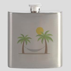 Hammock & Palms Flask