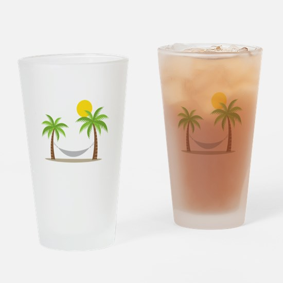 Hammock & Palms Drinking Glass