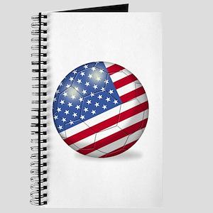 American Flag Soccer Ball (PP) Journal