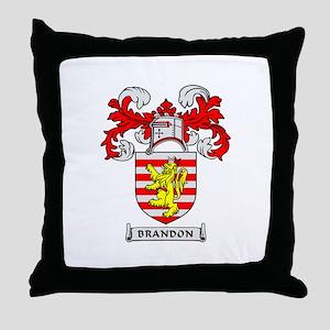 BRANDON Coat of Arms Throw Pillow