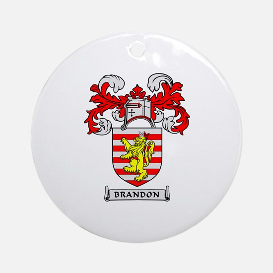 BRANDON Coat of Arms Ornament (Round)