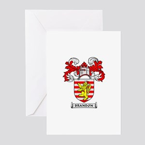 BRANDON Coat of Arms Greeting Cards (Pk of 10)
