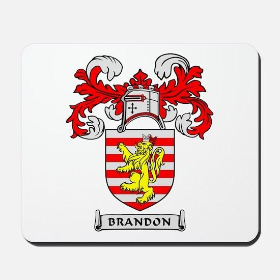BRANDON Coat of Arms Mousepad