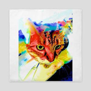 Multi-Colored Cat Queen Duvet