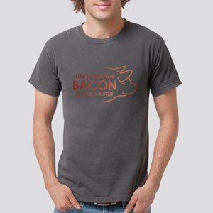 Life Is Rough Bacon Mens Comfort Colors Shirt