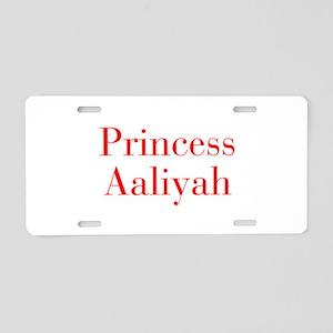 Princess Aaliyah-bod red Aluminum License Plate