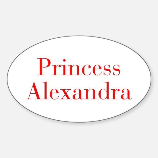 Princess Alexandra-bod red Decal