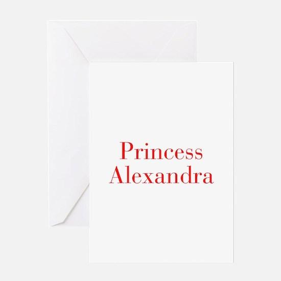 Princess Alexandra-bod red Greeting Cards