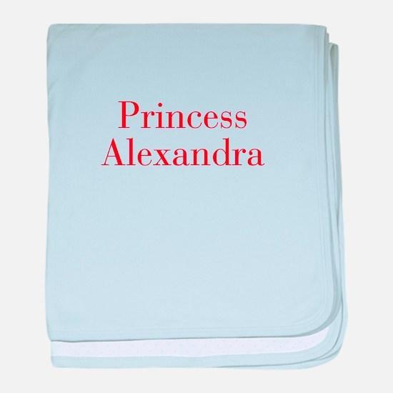 Princess Alexandra-bod red baby blanket