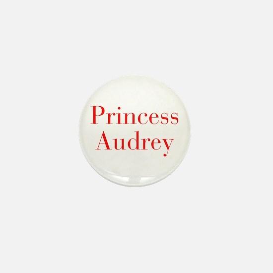 Princess Audrey-bod red Mini Button