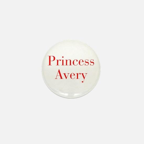 Princess Avery-bod red Mini Button
