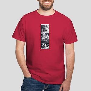 Japanese 3Temples camara Dark T-Shirt