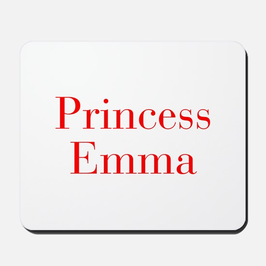 Princess Emma-bod red Mousepad