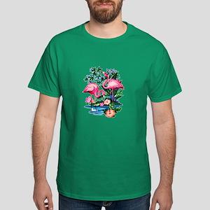 Wild Flamingos- Dark T-Shirt
