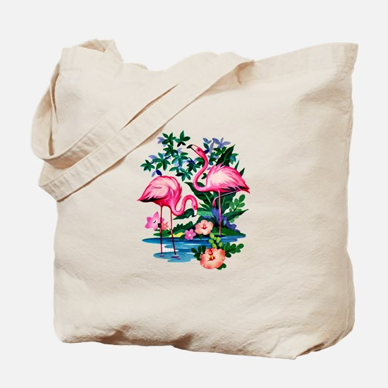 Wild Flamingos- Tote Bag
