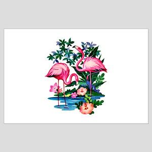 Wild Flamingos- Large Poster