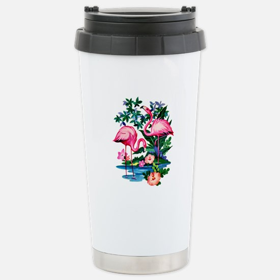 Wild Flamingos- Stainless Steel Travel Mug