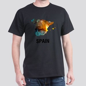 Polygon Mosaic Map of Spain T-Shirt