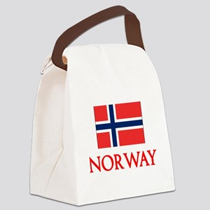 Norway Flag Design Canvas Lunch Bag