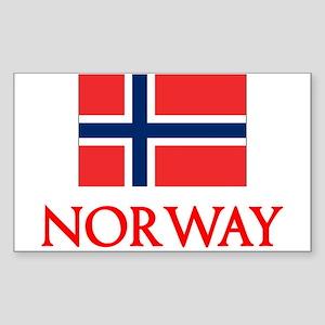 Norway Flag Design Sticker