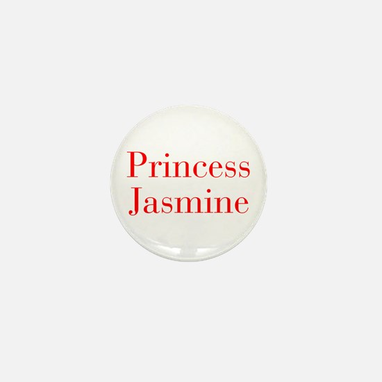 Princess Jasmine-bod red Mini Button