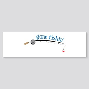Gone Fishing Bumper Sticker