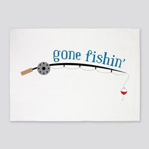 Gone Fishing 5'x7'Area Rug