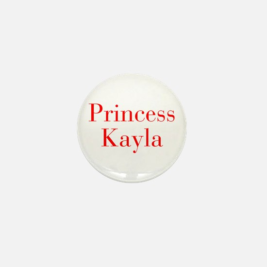 Princess Kayla-bod red Mini Button