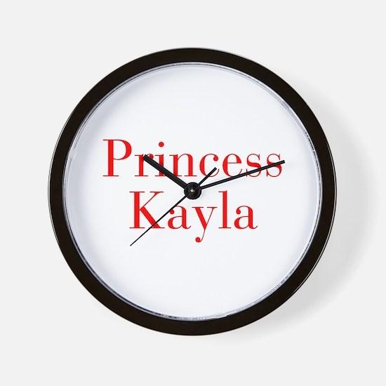 Princess Kayla-bod red Wall Clock