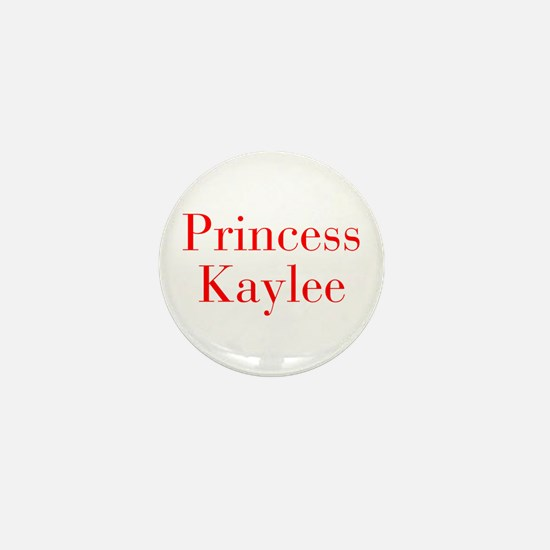 Princess Kaylee-bod red Mini Button
