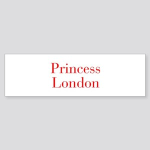 Princess London-bod red Bumper Sticker