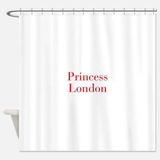 Princess London-bod red Shower Curtain