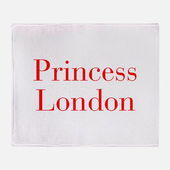 Princess London-bod red Throw Blanket