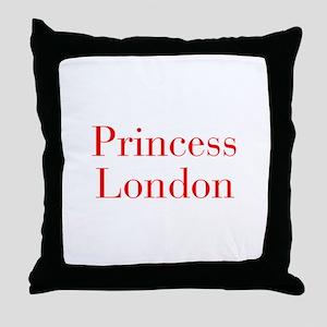 Princess London-bod red Throw Pillow