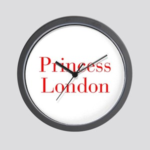 Princess London-bod red Wall Clock