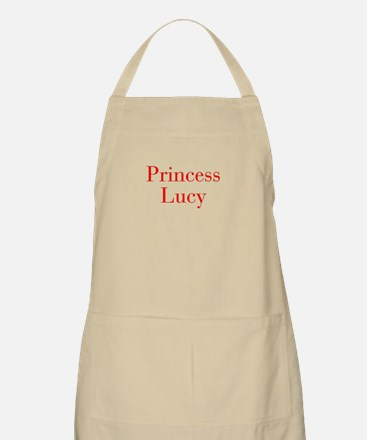 Princess Lucy-bod red Apron