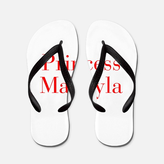 Princess Makayla-bod red Flip Flops