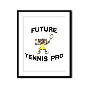 Future Tennis Pro (Girl) Framed Panel Print