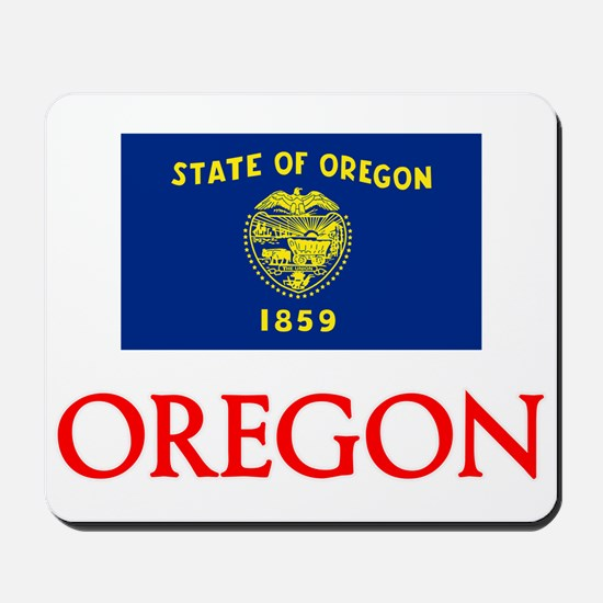 Oregon Flag Design Mousepad
