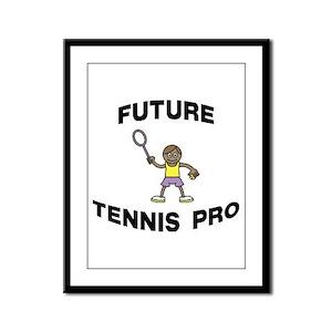 Future Tennis Pro (Boy) Framed Panel Print