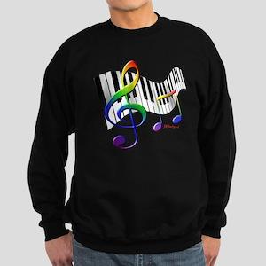 Keyboard & Treble Clef Sweatshirt (dark)