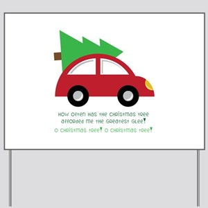 Christmas Car Yard Sign