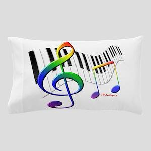 Keyboard & Treble Clef Pillow Case